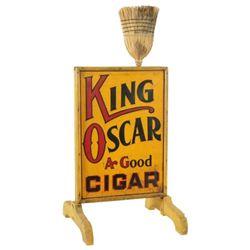 King Oscar Cigars Advertising Broom Rack