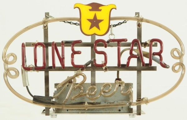 Lone Star Beer Neon Sign 1940s