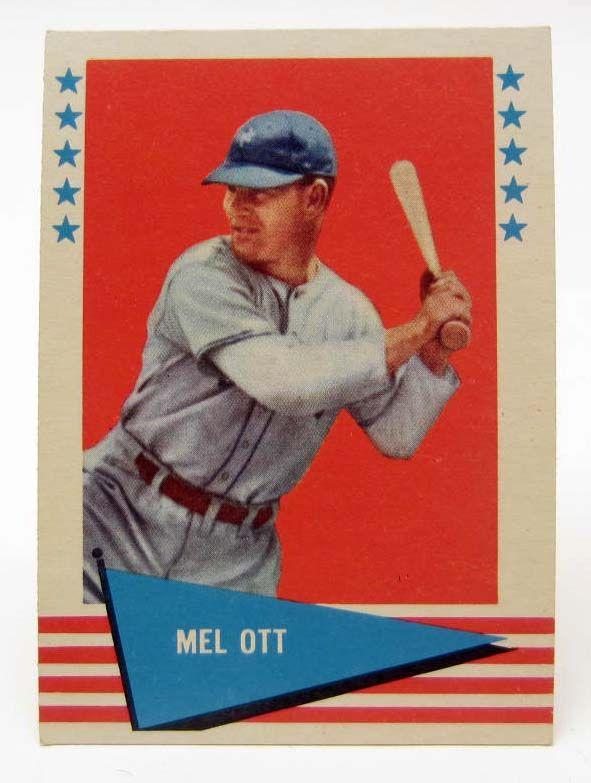 1961 Fleer Mel Ott 68 Baseball Card