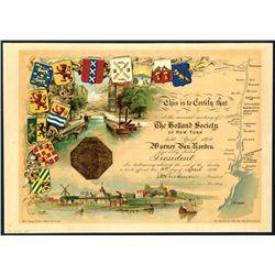 Holland Society of New York , 1894, Membership Certificate.