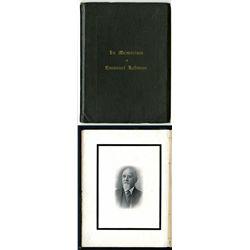 Emanuel Lehman Memorial Book.