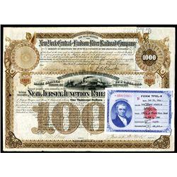 J.P. Morgan Signature as Trustee on New Jersey Junction Railroad Co., 1886 Bond.