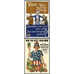 World War I, 1918 Patriotic Poster Pair.