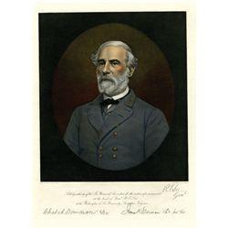 Robert E. Lee,  ca.1870's Hand Tinted Engraving.