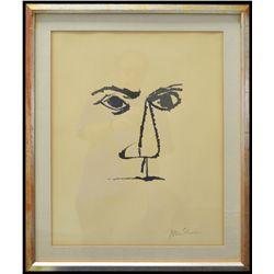 """ÒFor the Sake of a Single Verse"""" Lithograph #394/950 by Ben Shahn (1898-1969)"""