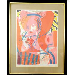 """Alistair Grant (1925-1997), Lithograph""""Black Bottom"""" 27 x 20 inches."""