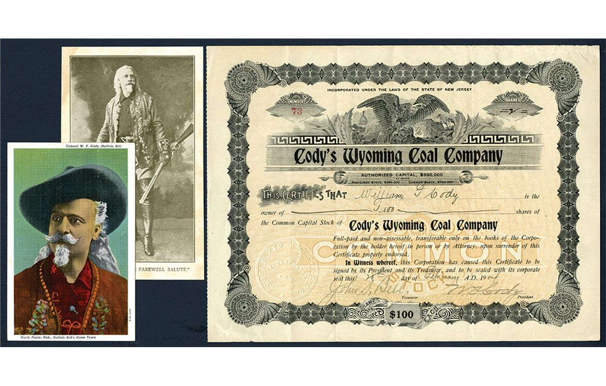 Cody's Wyoming Coal Company Stock ITASB William F