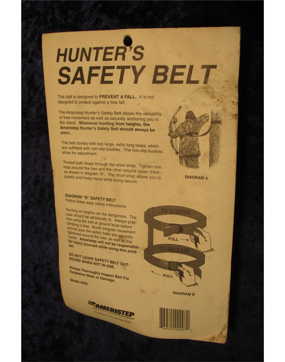 266  Ameristep Hunter's Safety Belt  New in package