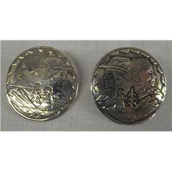 Navajo Sterling Silver Piarced Earings
