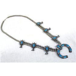 1950 Route 66  Squash Blossom Necklace