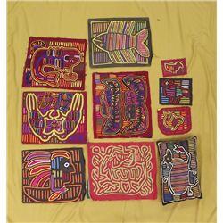 Kuna Indian Fabric Molas and Pillow