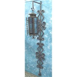 Wrought Iron Stand with Lamp  MUST BE PICKED UP