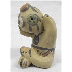 Santa Clara Polychrome Mudhead  Pottery by Gutierrez