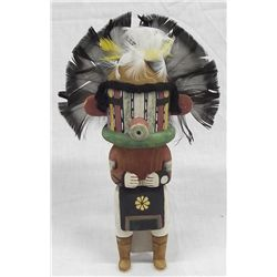 Hopi Wooden Cradle Doll Kachnia by William G.