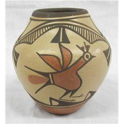 Zia Bird Pottery Jar by Elizabeth Medina