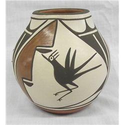 Zia Bird Pottery Jar by Eusebia Shije