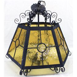 Mexican Ornate Wrought Iron Hanging Lamp - Pick Up