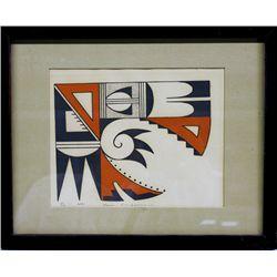Signed and Numbered Hopi Print by Karen Brueggemann