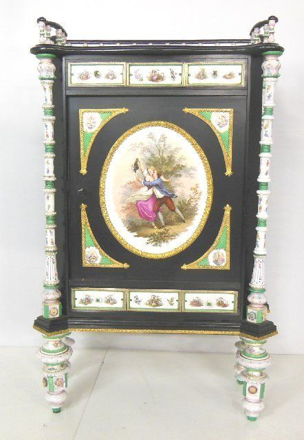 Beautiful French cabinet with KPM porcelain plaque