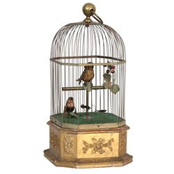 Double Singing Bird Cage Automaton