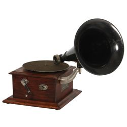 Oak Victor Junior Gramophone w/ Original Horn