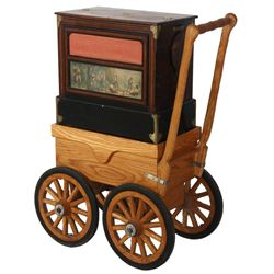 Street Barrel Pipe Organ on Custom Carriage