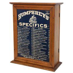 Humphrey's Specifics Apothecary Medicine Cabinet