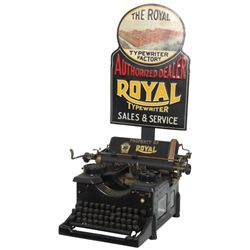 Royal Typewriter Advertising Display