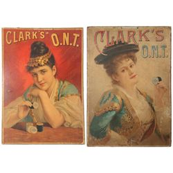 2 Clark's O.N.T. Thread Advertisements
