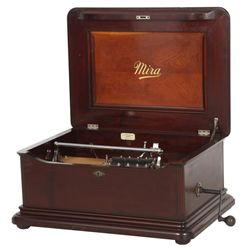 Mira Mahogany 15.5 in. Disc Music Box