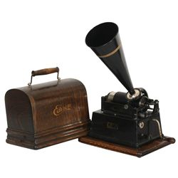 Edison Gem Phonograph In Oak Case