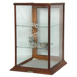 Oak Countertop Store Display Cabinet