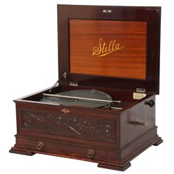 Stella No. 84 Mahogany Disc Music Box