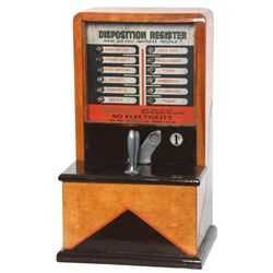 Disposition Register Squeeze Handle Machine