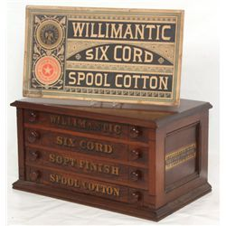 Willimantic Walnut 4 Dwr. Spool Cabinet