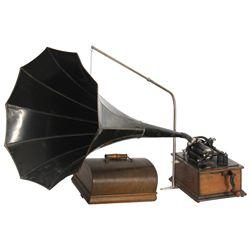 Edison Standard Phonograph w/ 1 Panel Horn