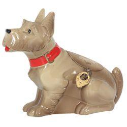 Spelter Scottie Dog Still Bank