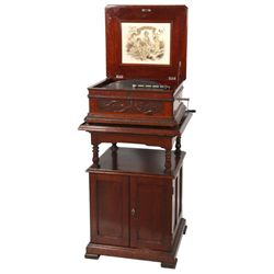 The Criterion Mahogany 15.75 in. Disc Music Box