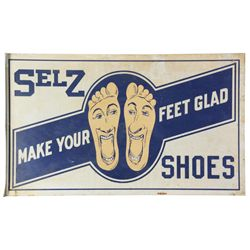 2 Sided Selz Shoes Wall Sign