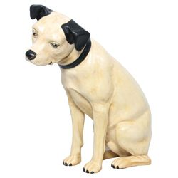 Lg. Paper Mache Advertising Nipper Dog