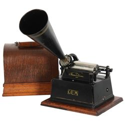 Edison Gem Phonograph In Oak Case
