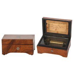 2 Dresser Top Miniature Music Boxes