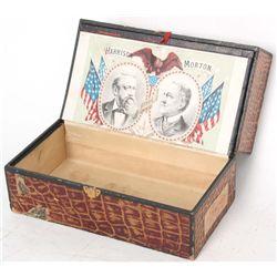 1888 Political Campaign Cigar Game Box
