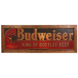 Large Wall Hanging Budweiser Sign