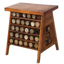 Custom Pine Tapered Edison Record Stand
