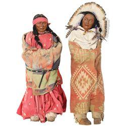 2 Large Skookum Dolls