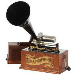 Oak Model A Graphophone Cylinder Phonograph