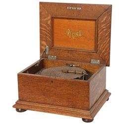 Oak Regina Style 91 Disc Music Box