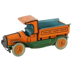 Dan-Dee Dump Truck Litho Tin Toy