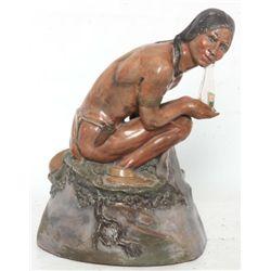 Indian Rock Ginger Ale Figural Display